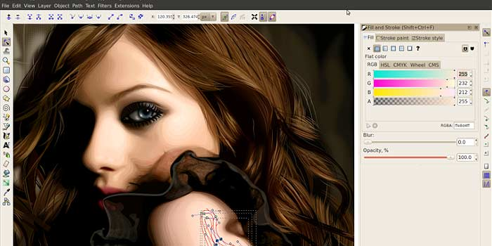 Illustrator gratis alternativ - Inkscape