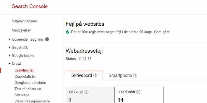 Webadresse fejl i links