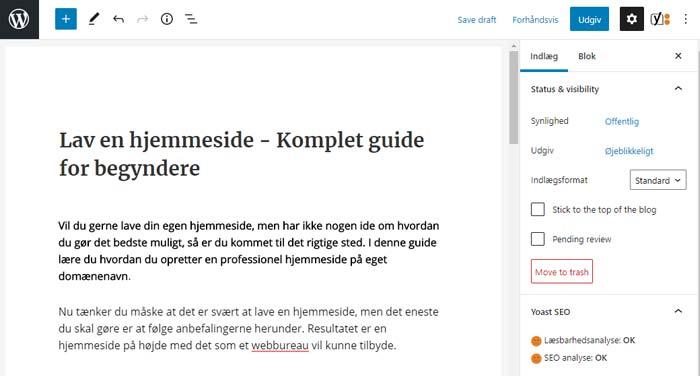 SEO optimering af WordPress