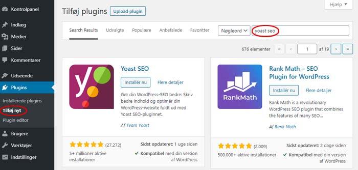 Yoast SEO installation - Optimering af WordPress